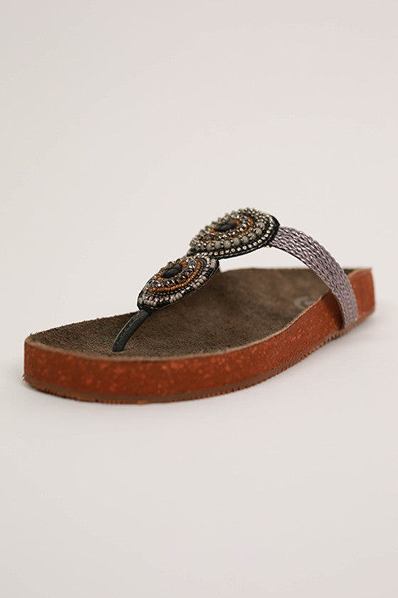 Gemini Sandal in Grey
