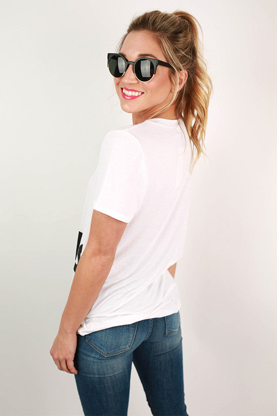 Chic Happens Graphic Tee in Ivory
