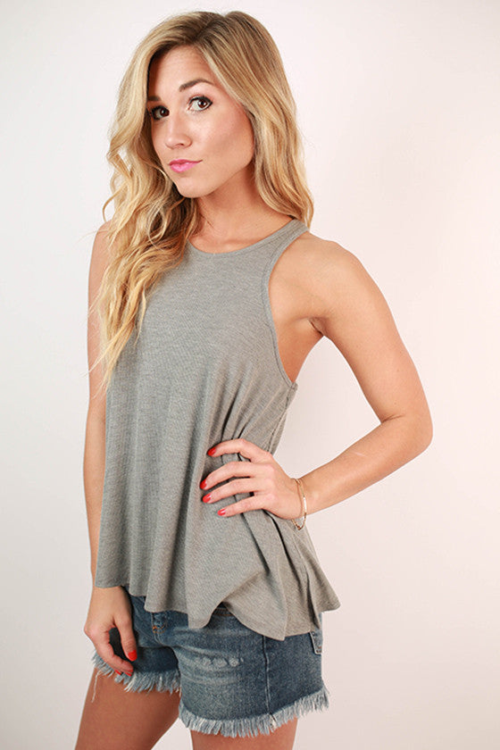 Original Beauty Racerback Tank in Grey