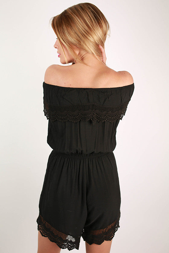 Weekend Escape Romper in Black
