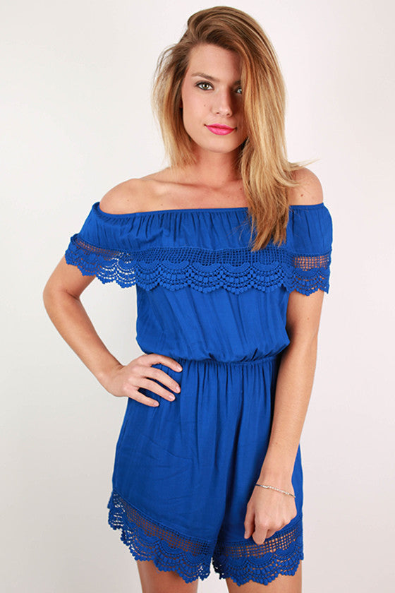 Weekend Escape Romper in Royal Blue