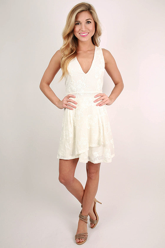 Monroe Beauty Dress in Ivory