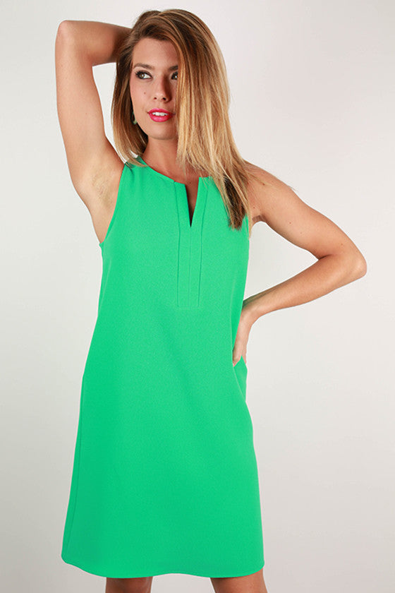 Barbados Beauty Shift Dress in Green