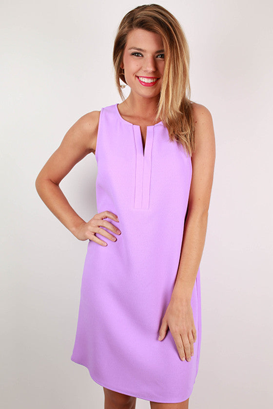 Barbados Beauty Shift Dress in Orchid