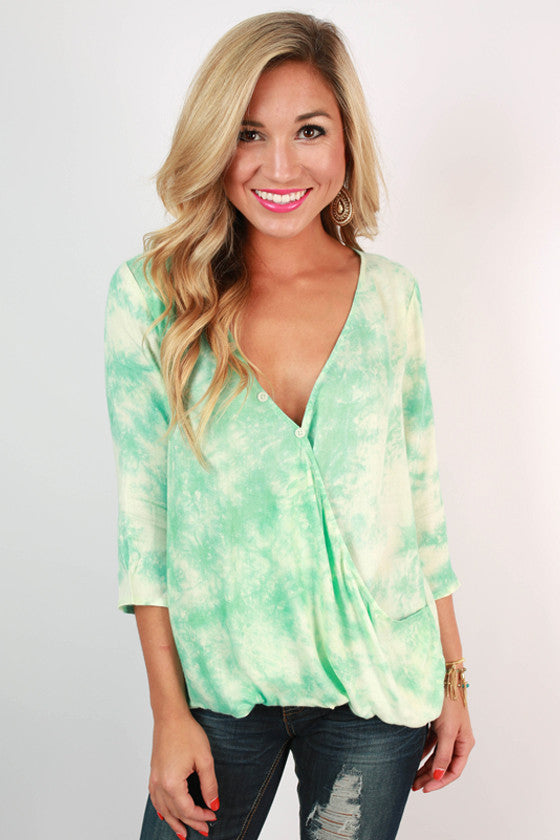 Fashionista in France Top in Jade