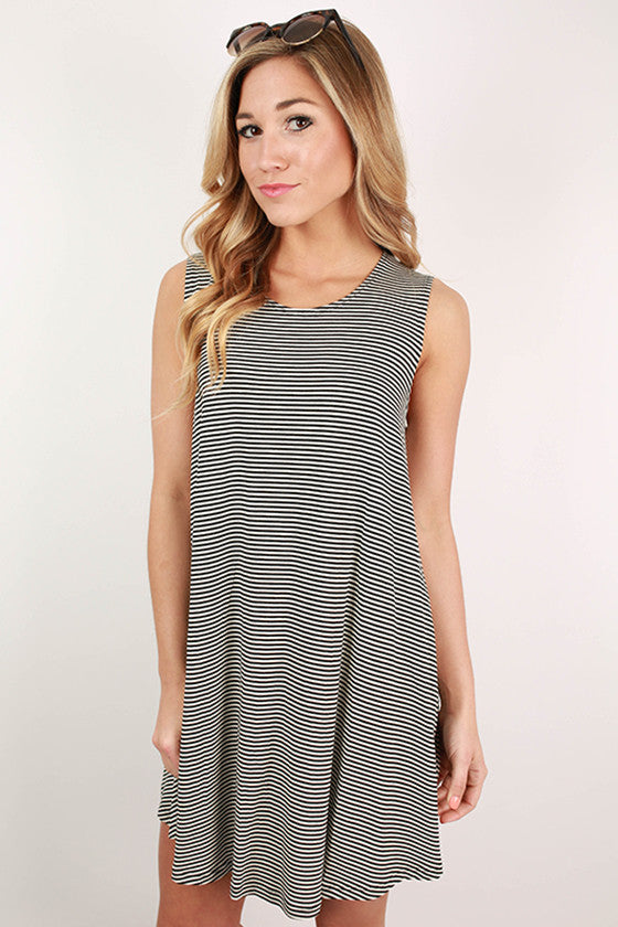 Getting Lost in London Stripe Tank Dress