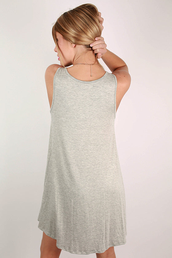 Sightseeing in Paris Tank Dress in Grey