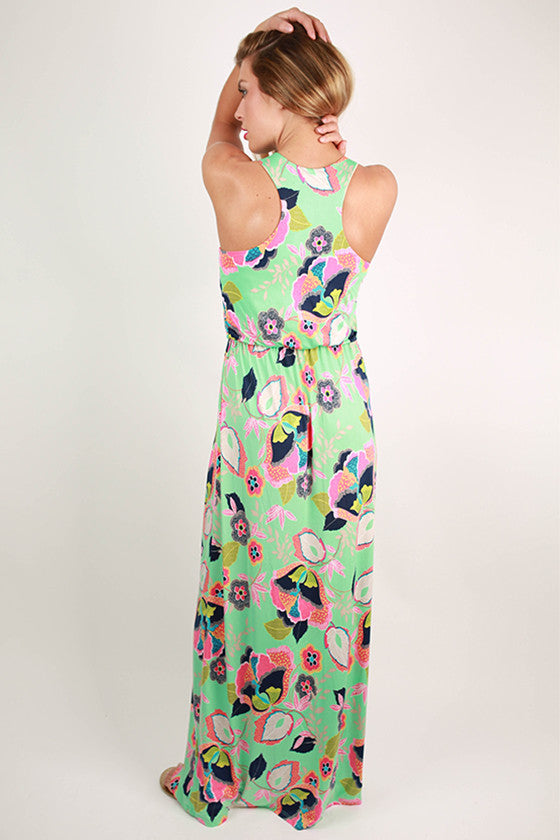 Tea in the Garden Floral Maxi Dress