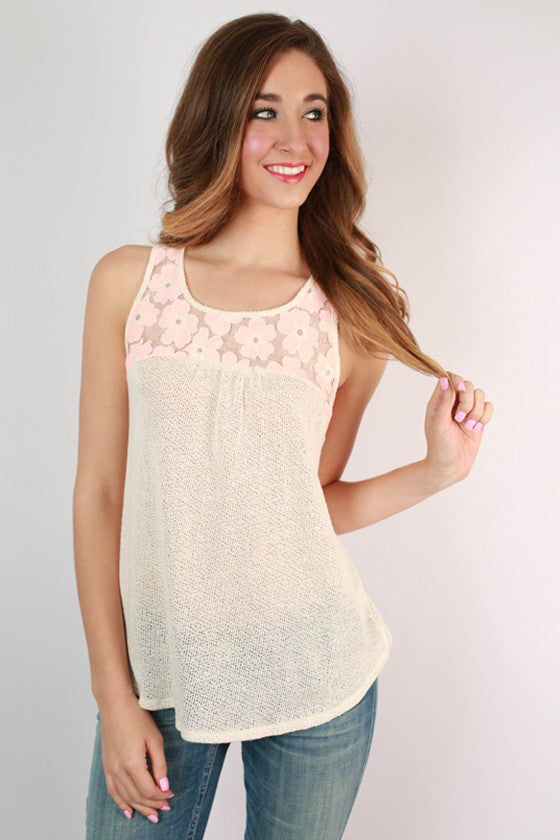 Butterfly Garden Top in Ivory