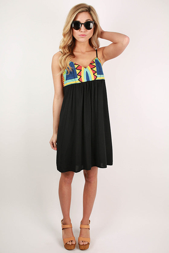 Bardot Babydoll Dress in Black