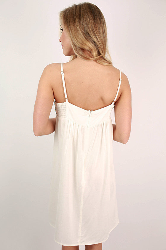Bardot Babydoll Dress in White