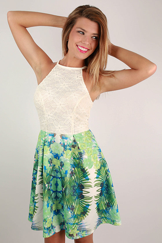 Find me in the Tropics Lace Dress