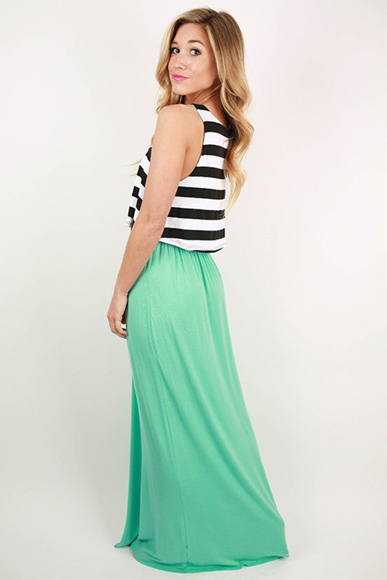 Shopping In The City Maxi Dress in Mint
