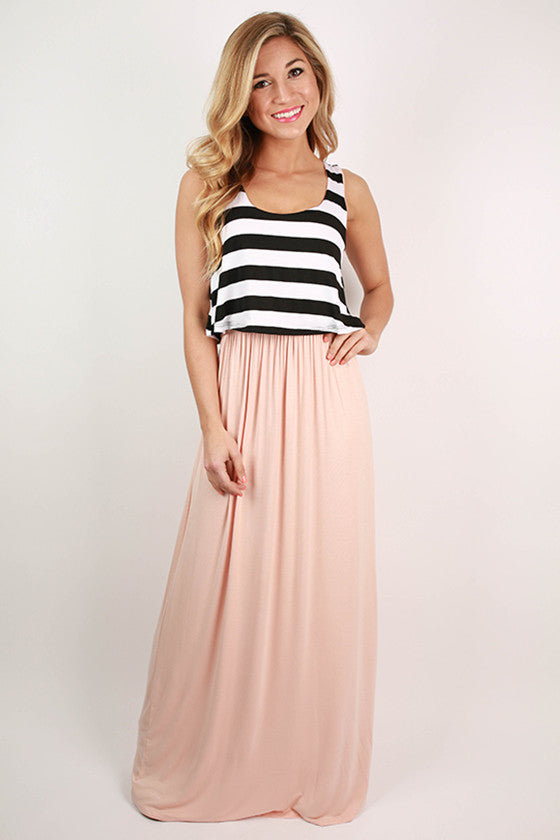 Shopping In The City Maxi Dress in Blush