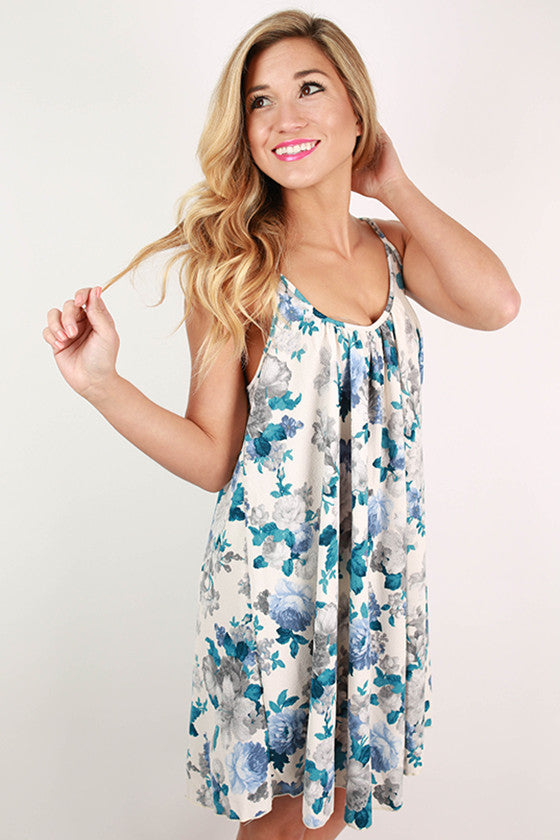 You'll Love It Floral Shift Dress in Ivory