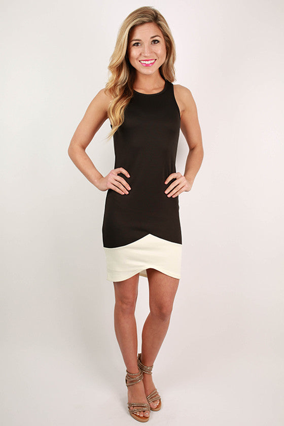Movie Star Status Mini Dress in Black