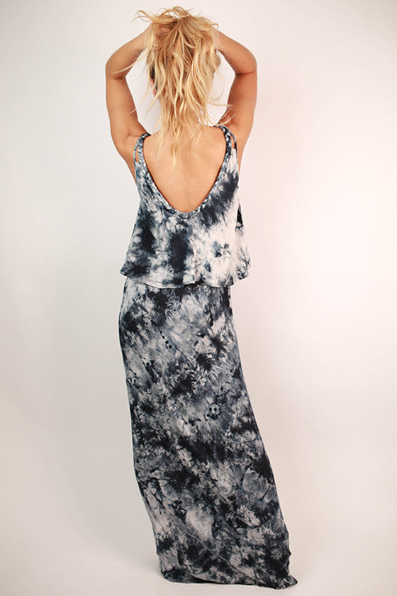 Jetset To Europe Ruffle Maxi Dress