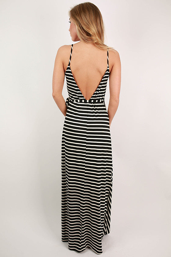 Outside The Lines Wrap Maxi Dress