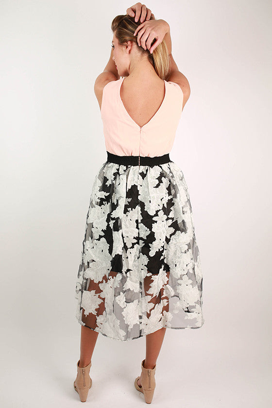 Work It Floral Dress in Peach