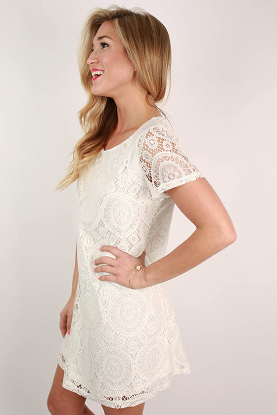 Great Expectations Lace Dress in White
