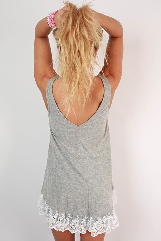 The Way It Should Be Lace Tank in Grey