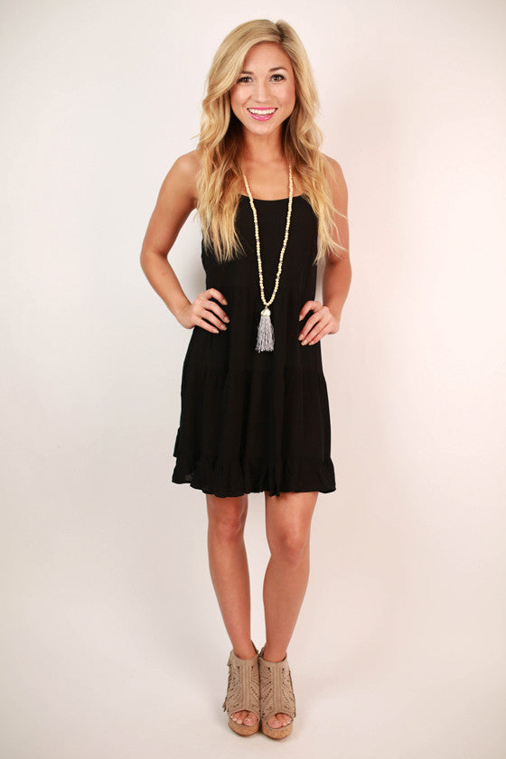 Gotta Stay Glam Dress in Black
