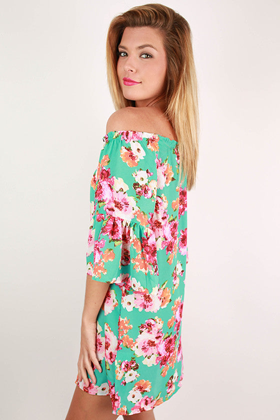 Under The Tuscan Sun Dress in Mint