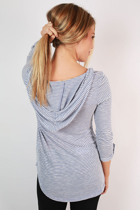 Adventures In Spain Stripe Top in Blue