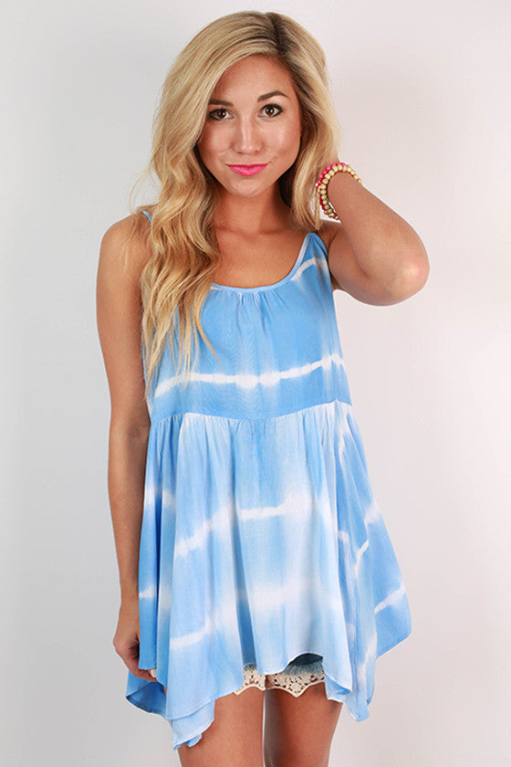 Take Your Time Tie-Dye Tank in Blue