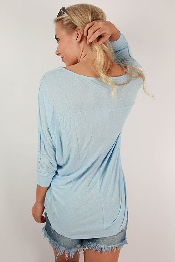 Endless Possibilities Top in Sky Blue