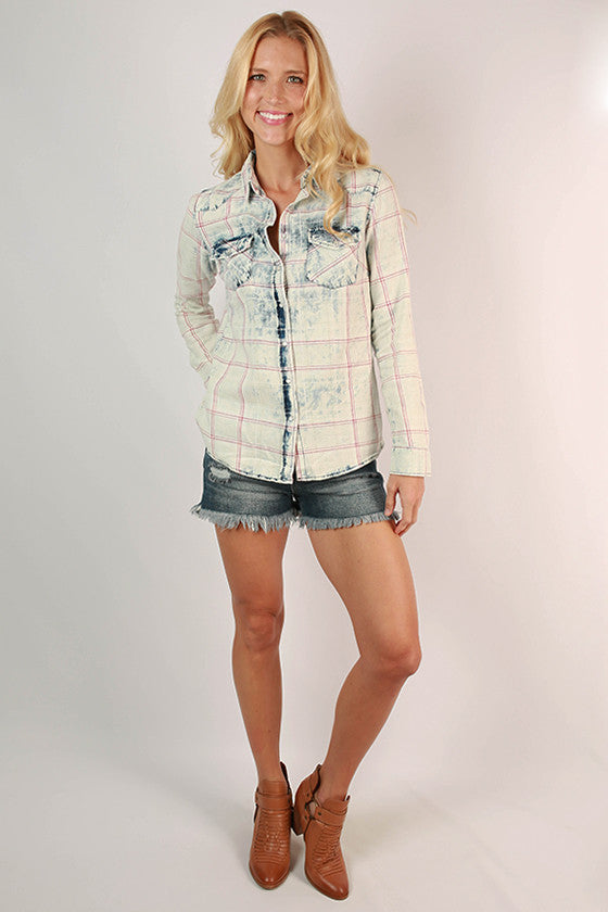 Delightful Day Button Down Top
