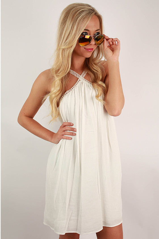 Effortlessly Chic Dress in White