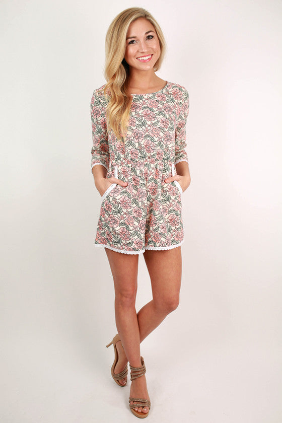 Resort Ready Romper in Ivory