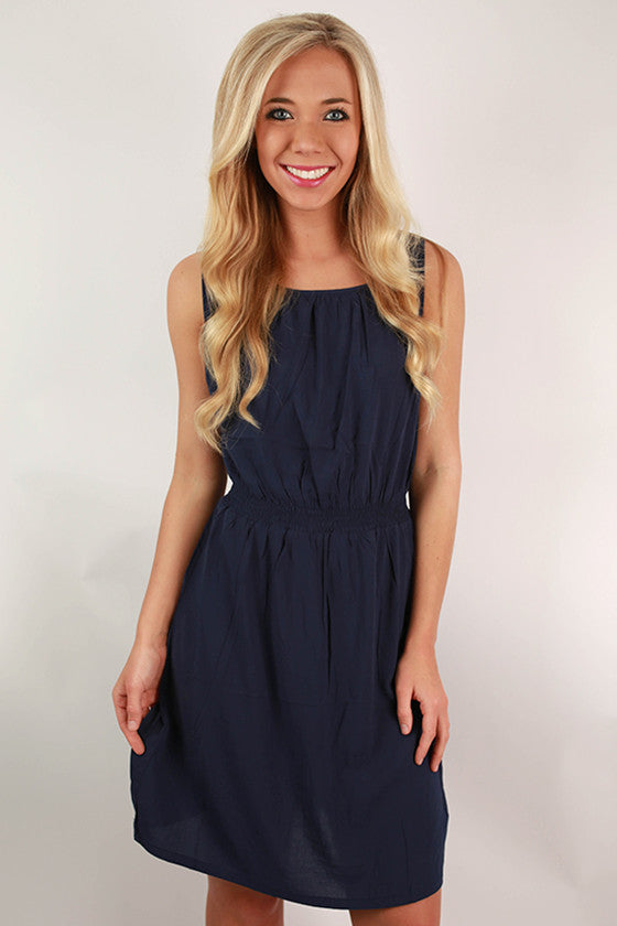 Piko Classic Dress in Navy