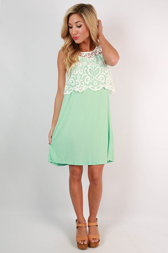 Afternoon Tea Dress in Mint