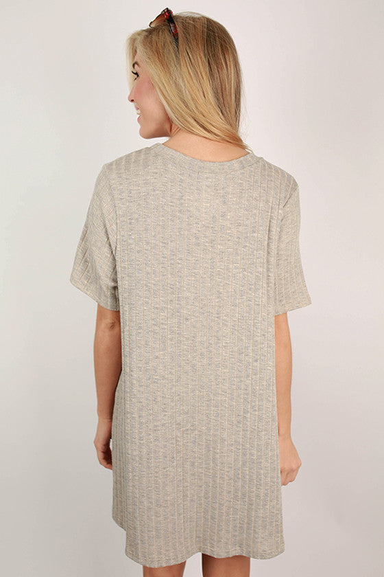 Cayman Sunshine T-Shirt Dress in Oatmeal