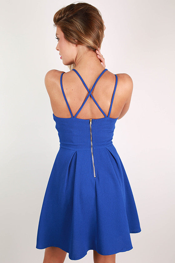 Crush On You Dress in Royal Blue