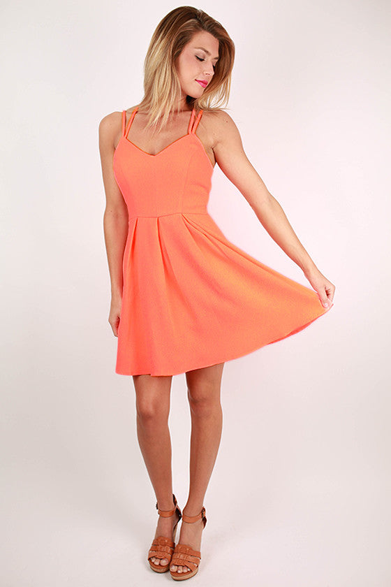Crush On You Dress in Neon Coral