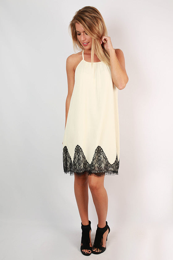 Loving in Lace Dress in Cream