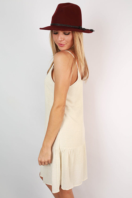 Going The Distance Ruffle Dress in Ivory
