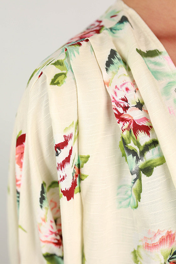 Go With The Flow Floral Overlay in Ivory