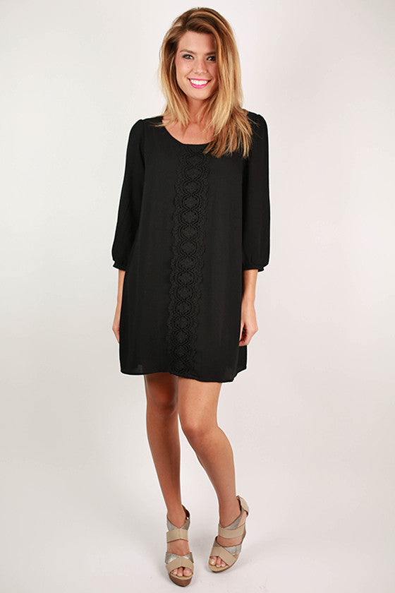Dallas Socialite Shift Dress in Black