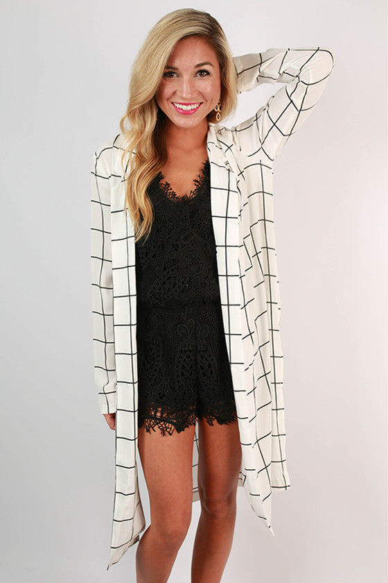 Soho Sweetheart Print Blazer in White