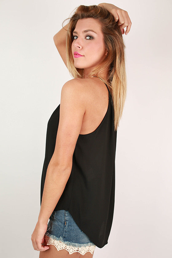 Brunch Plans Tank in Black