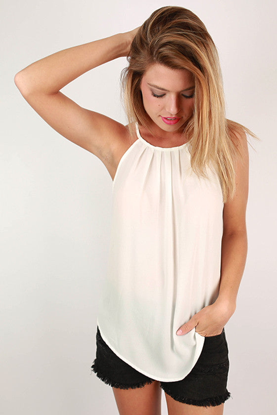 Brunch Plans Tank in White