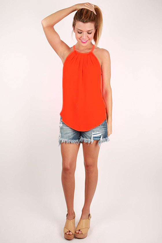 Brunch Plans Tank  in Orange