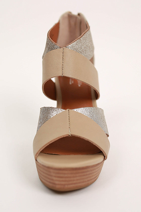 Two Tone Metallic Wedge