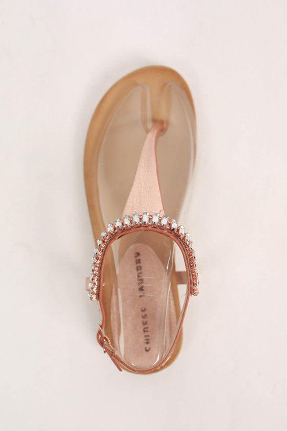 Flash Back Sandal in Rose Gold
