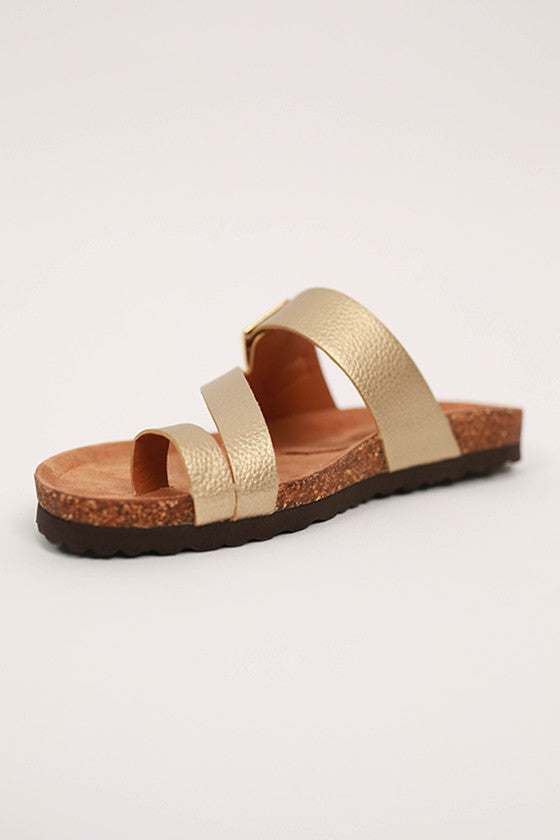Boxer Sandal in Gold