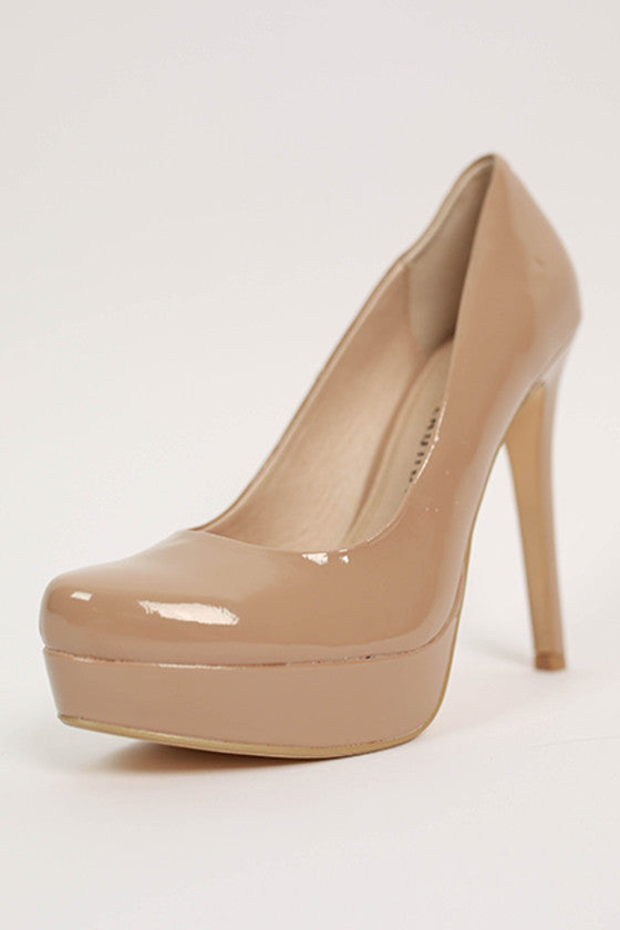 Wow Patent Heel in Nude